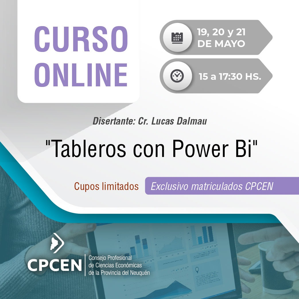 "Curso online ""Tableros con Power Bi"""